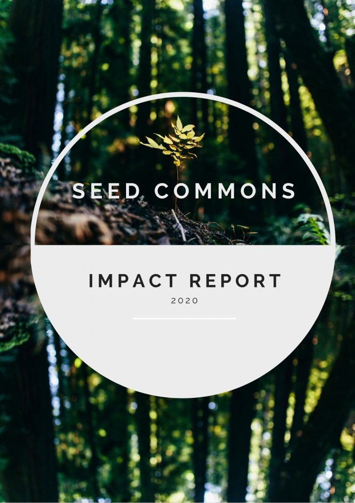 Front cover of the Seed Commons Impact Report 2020